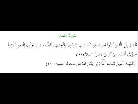 SURAH AN-NISA #AYAT 51-52: 20th April 2020