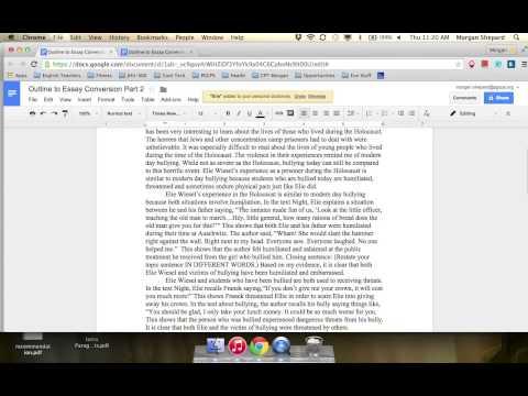 Ms. Shepard Formats Her Essay Using MLA