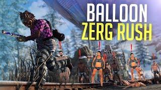 BALLOON ZERG DESTROYS THE SERVER - Rust Survival