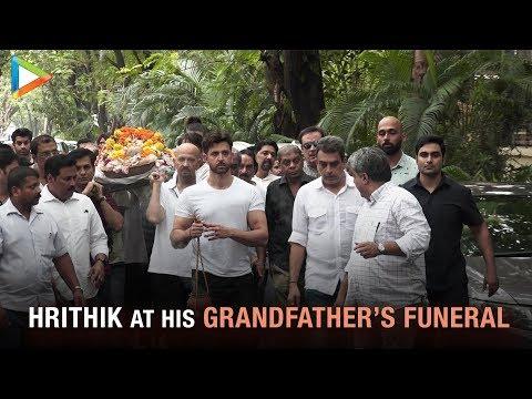Hrithik Roshan at Funeral of His Grandfather J Om Prakash | Rakesh Roshan