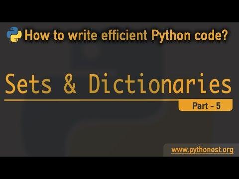 Python Dictionary And Sets   Python Tutorial   Key-value Pairs