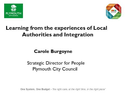 Carole Burgoyne: Learning from the experiences of Local Authorities and Integration