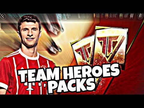 FIFA MOBILE 18 : INSANE TEAM HEROES PACK OPENING !! FIRST ELITE PULLED !!