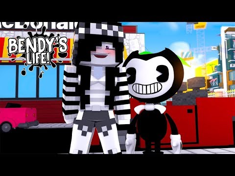 Minecraft BENDY'S LIFE - BENDY TURNS LEAH INTO HIS GIRLFRIEND!!!!