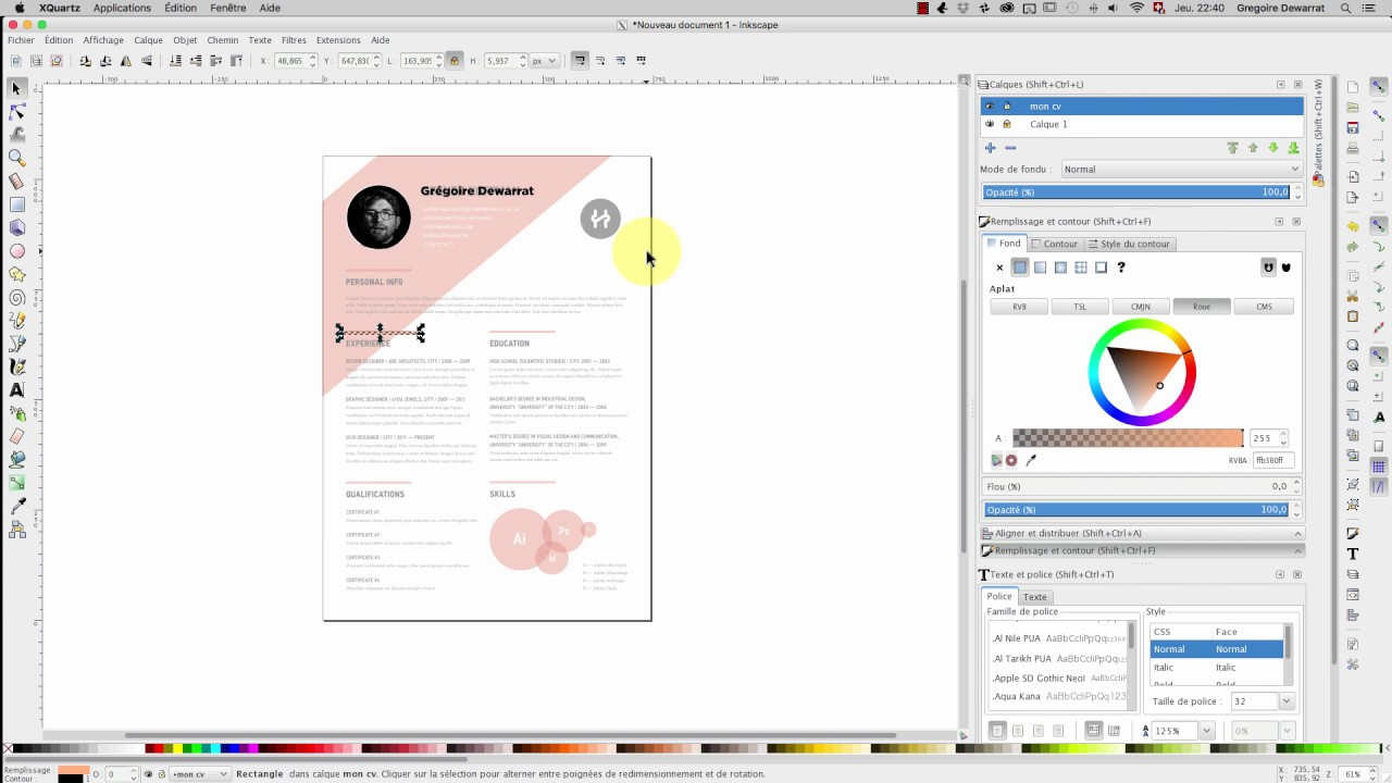 10h Info Tuto Inkscape Faire Une Cv Youtube