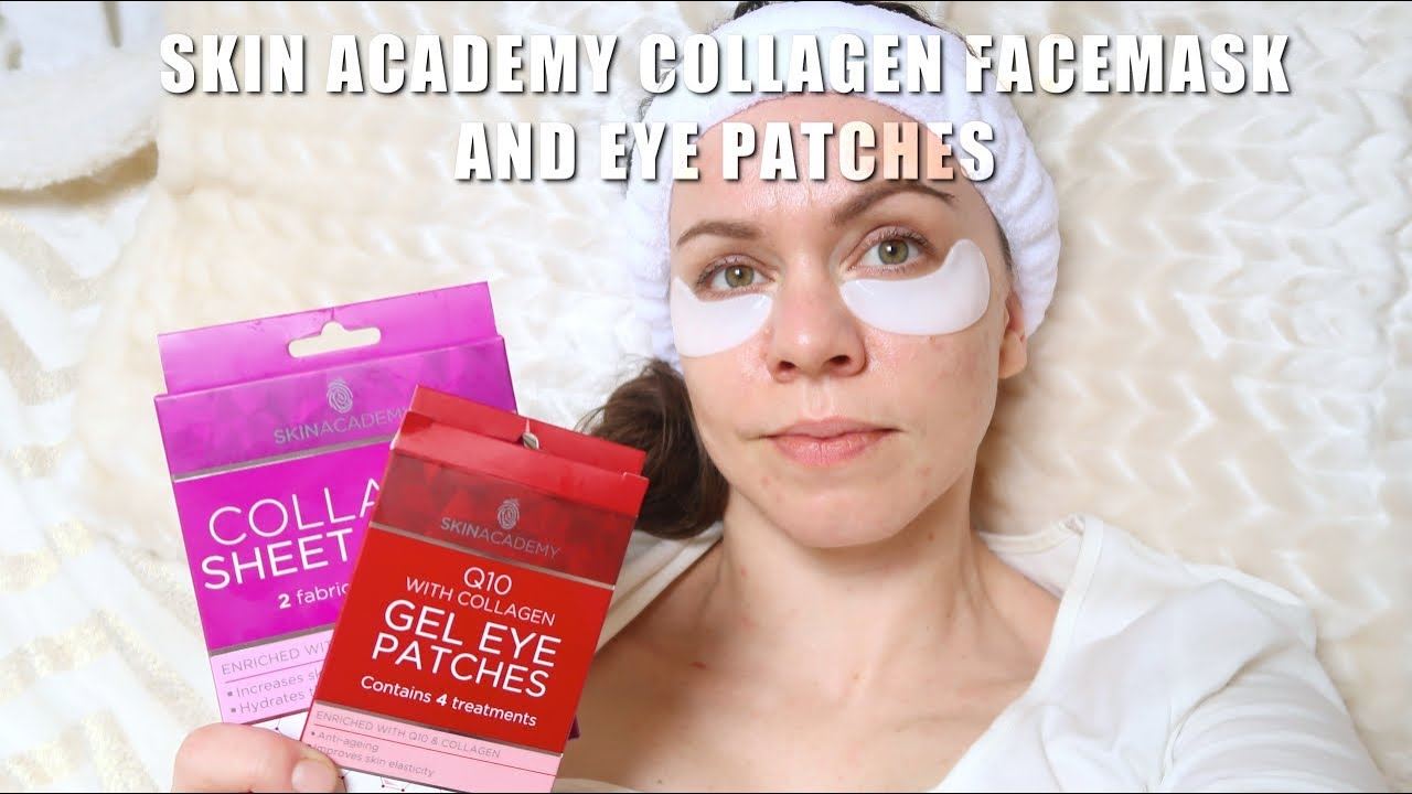 SKIN ACADEMY | Collagen facemask and eye patches! + komentarz
