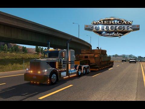 American Truck Simulator - M1A2 Abrams tank to Oakland