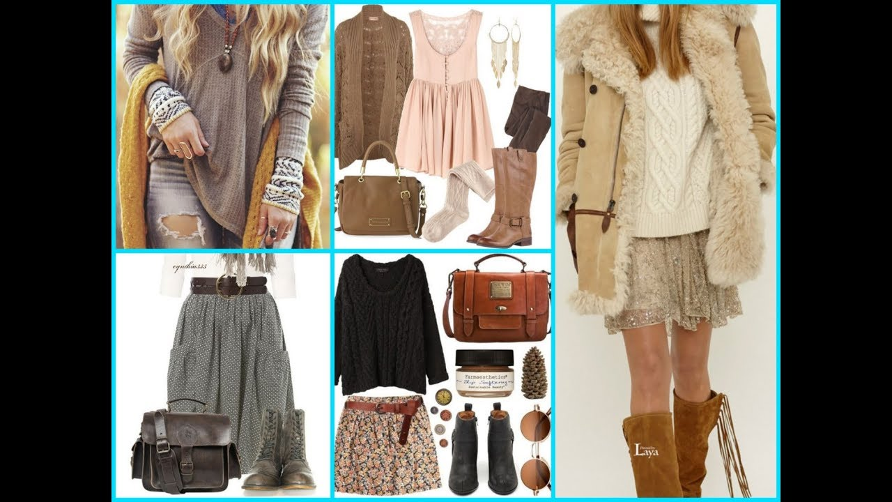 Cute Bohemian Chic Winter Outfits And Boho Style Ideas