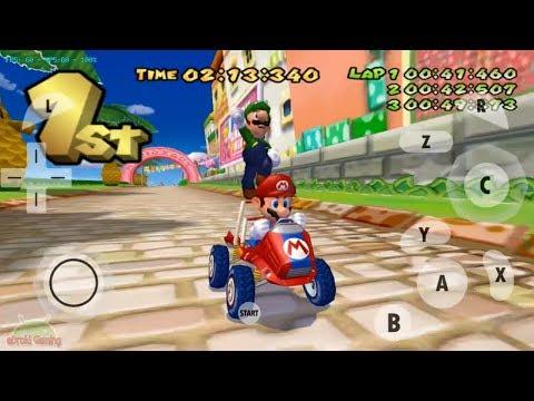 Play Game Mario Kart Double Dash!! Grand Prix Mushroom Cup | Dolphin MMJ Emulator Android
