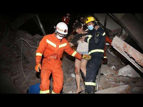 un-hôtel-de-quarantaine-s'effondre-en-chine,-des-dizaines-de-personnes-toujours-prisonnières