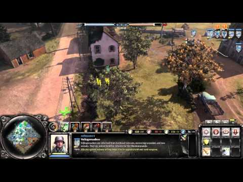 Company Of Heroes 2: The British Forces Gameplay - ARTY SLAP FEST |
