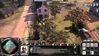 Company Of Heroes 2: The British Forces Gameplay - ARTY SLAP FEST
