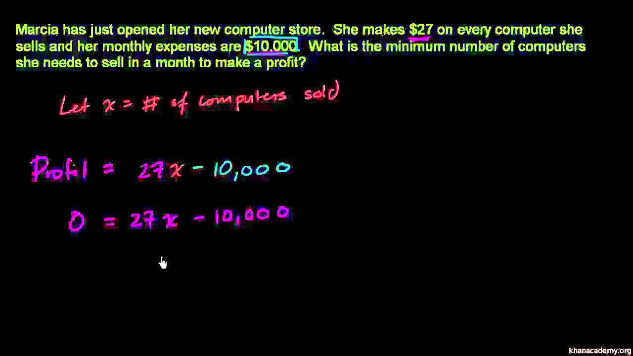 Tekstopgave om grundlæggende lineære ligninger