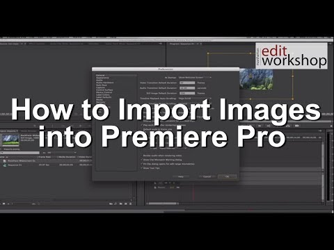 How to Import Images into Premiere Pro
