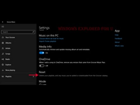 Reset Groove music in Windows 10 [Anniversary Update tutorial]