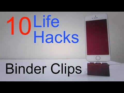 10 Life Hacks For Binder Clips