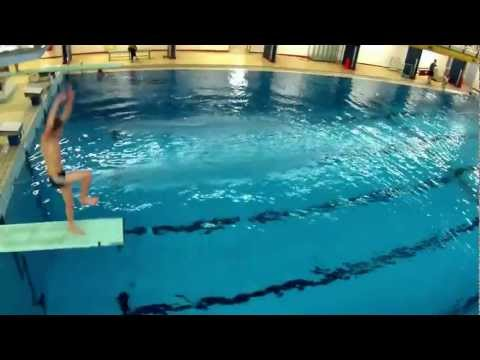 Diving board jumps with the gopro by angel beil doovi for Swimming pool diving board tricks