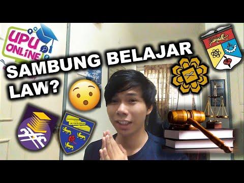 SAMBUNG BELAJAR LAW? [MALAYSIAN UNIVERSITIES]