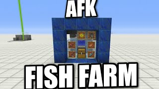 Minecraft PS4 -  AFK FISH FARM - EASY - Tutorial ( PS3 / XBOX / WII / PE )