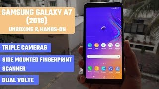 Samsung Galaxy A7 (2018) - Unboxing and Hands-on [Hindi]