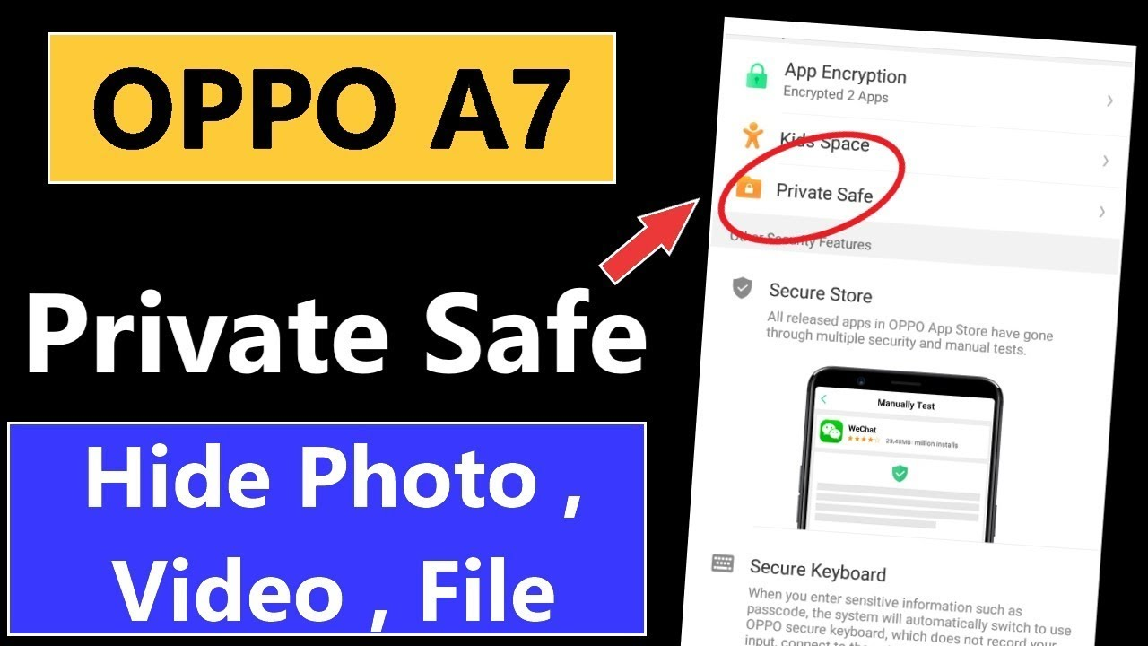 How to Use Private Safe in Oppo A7