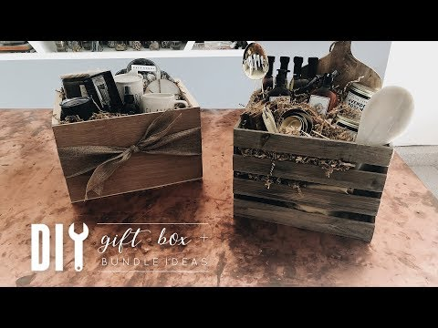 DIY Easy Wooden Gift Box + Gift Bundle Ideas