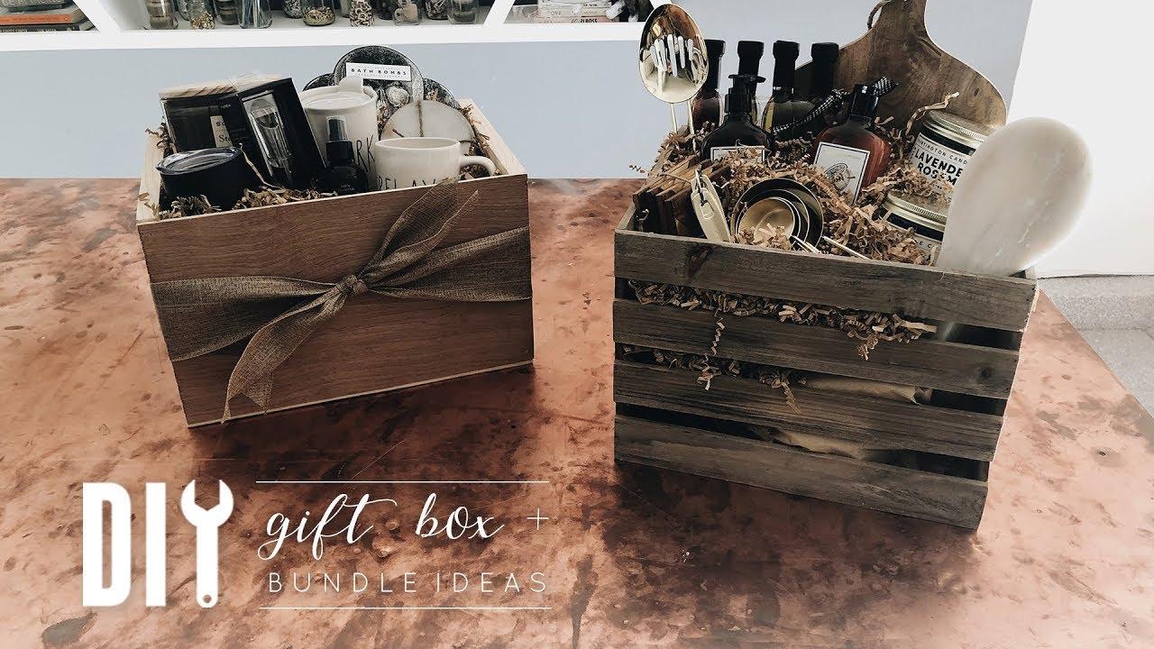 diy easy wooden gift box + gift bundle ideas