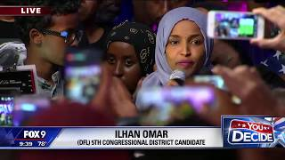 Ilhan Omar wins DFL primary in Minnesota's Fifth Congressional District
