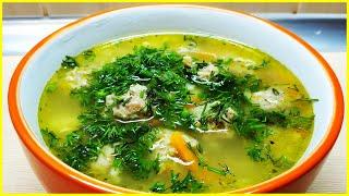 Суп с фрикадельками и яичной лапшой Простой рецепт вкусного супа