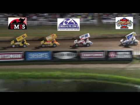 7-8-2016 UMSS Sprints Kouba Memorial Cedar Lake Speedway