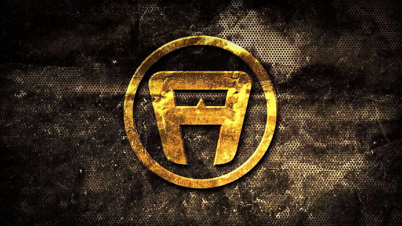 animated gold logo on grunge mesh background hd - youtube