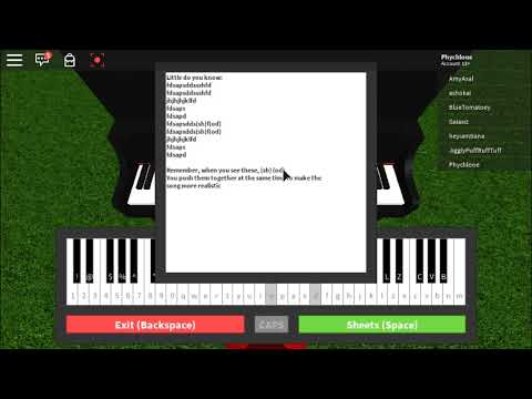 Wicked - I´m not that girl - Free Downloadable Sheet Music