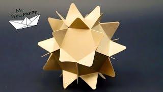 Sterne basteln zu Weihnachten mit Papier - schöne Weihnachtsdeko selber basteln