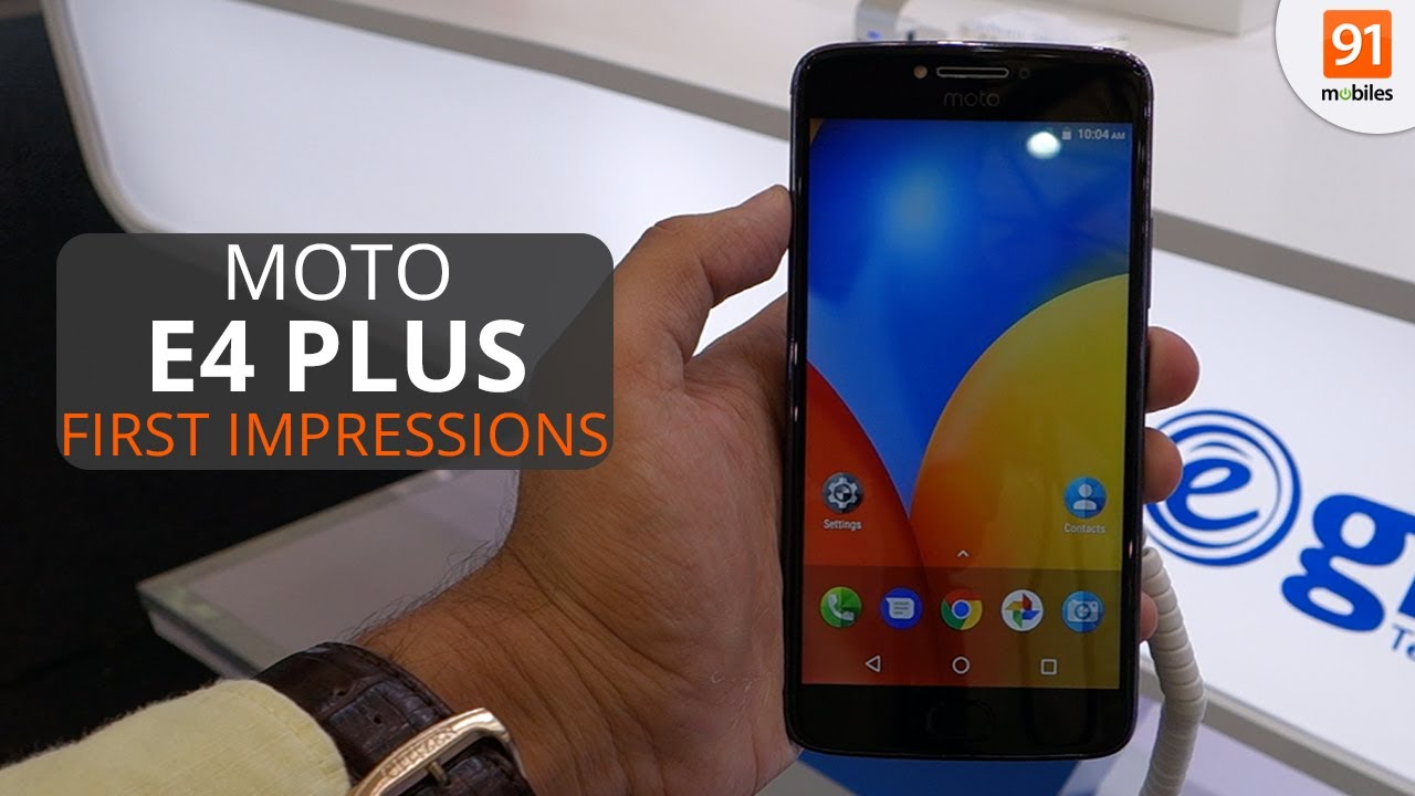 Moto E4 Plus: First Look | Hands on | Launch