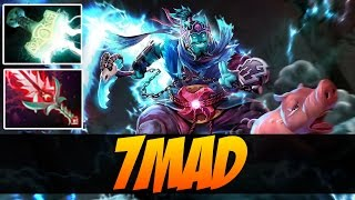 7ckngmad plays storm spirit with bloodthorn and mjollnir 7300 mmr dota 2