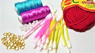 5 Easy Earrings Making Ideas | Hand Made Jewellry | Jewellry Making Ideas At Home