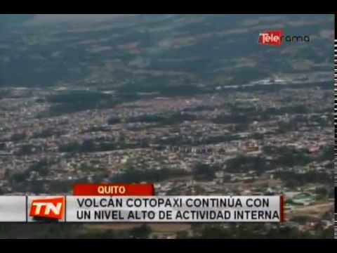 Volcán Cotopaxi continúa con un nivel alto de actividad interna