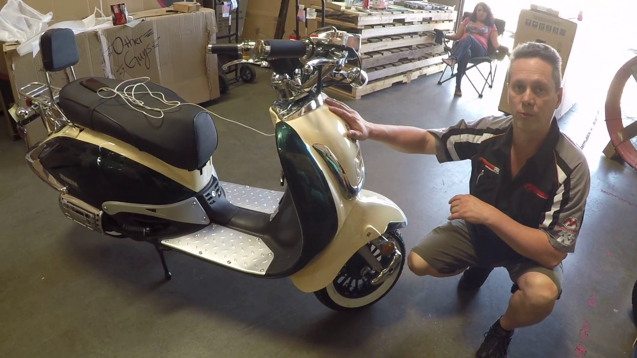 150cc 50cc Znen Scooter Setup Info And Unboxing High Quality Italian Style  Scooters