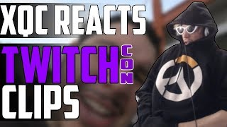 xQc REACTS TO TWITCHCON 2018 CLIPS