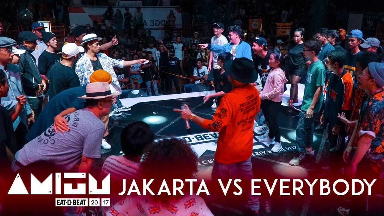 jakarta vs everybody city vs city exhibition battle eat d beat