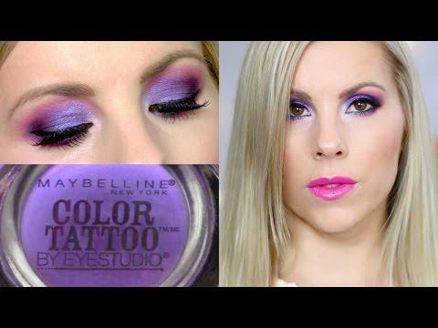 Eyeshadow Tutorial | Painted Purple Maybelline Color Tattoo