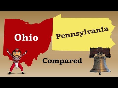 Ohio and Pennsylvania Compared