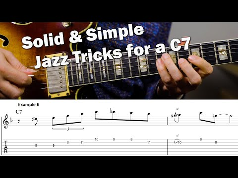 Simple Things To Play On A C7 That Sound Great - Easy Jazz Licks