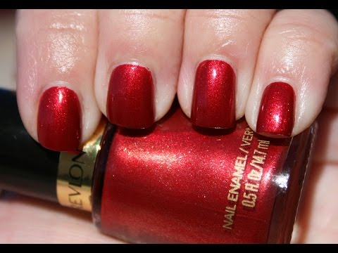 Beauty Color Revlon Nail Polish Red Orange Review