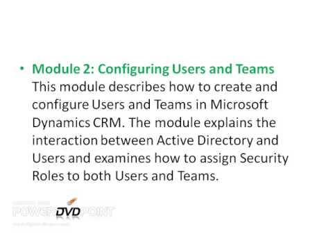 Microsoft dynamics crm 2011 training toronto