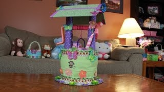 Wishing Well Diaper Cake (how To Make)