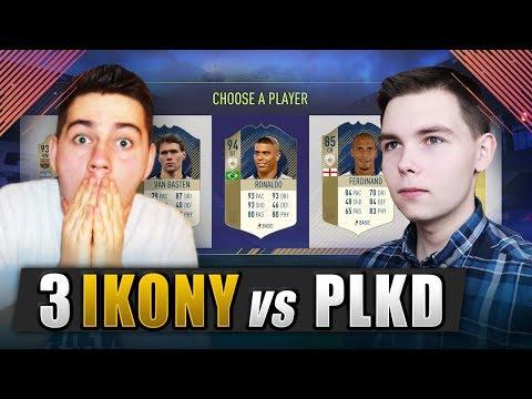 DRAFT Z 3 IKONAMI VS PLKD | WIELKI ZAKŁAD O FRYZURĘ RONALDO! | FIFA 18