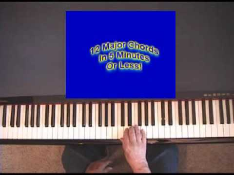 Piano 12 piano chords : Piano chords -- learn 12 Major Chords In 5 Minutes - YouTube