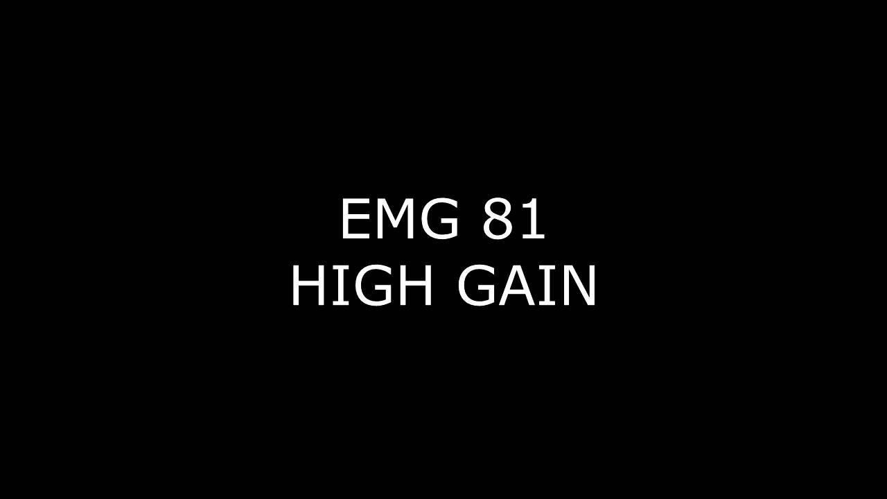 EMG 81 VS Seymour Duncan JB