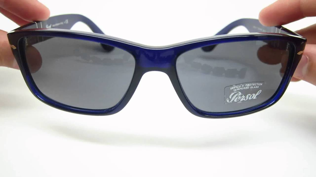 5ae648d21a8e Persol PO 3154S 1047 R5 Blue Sunglasses Review - YouTube